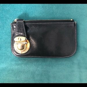 Marc Jacobs leather coin purse with locking zipper